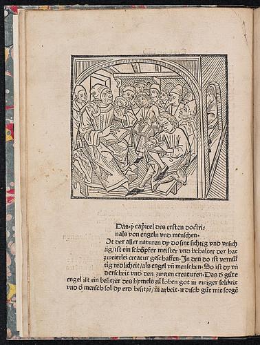 Gross, Erhart: Doctrinale für die Laien - Woodcut illustration