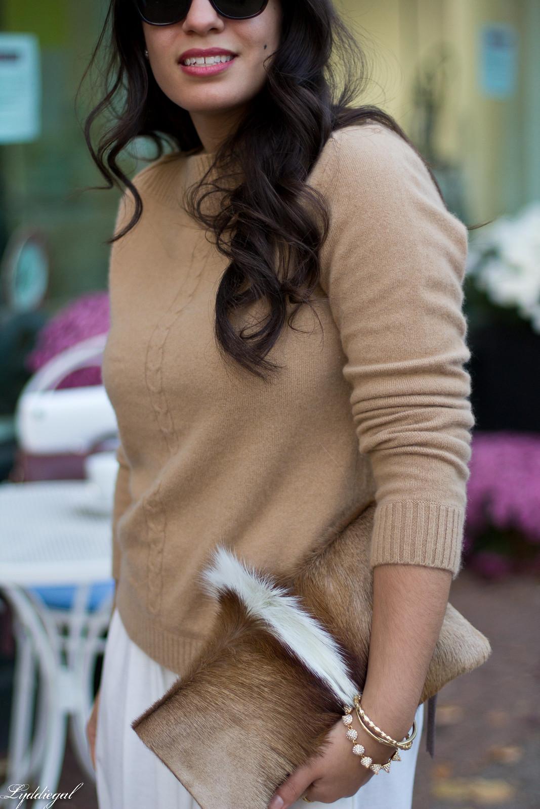 white Culottes, camel sweater, toe cap heels, springbok clutch-9.jpg