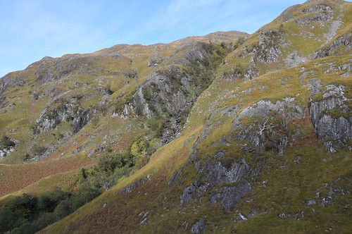 Tree lined gorge of Allt Coire na Ciche