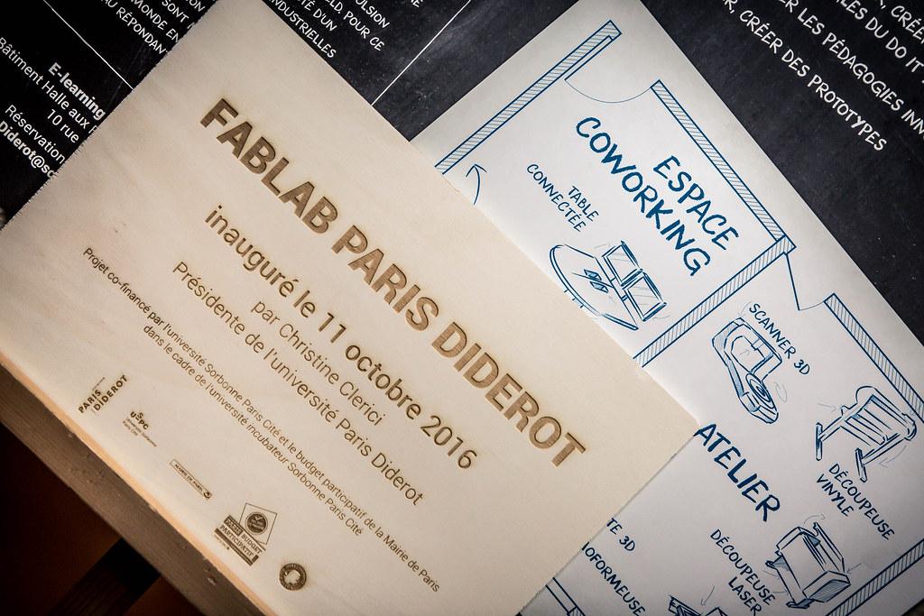 l'inauguration du FABLAB Paris Diderot
