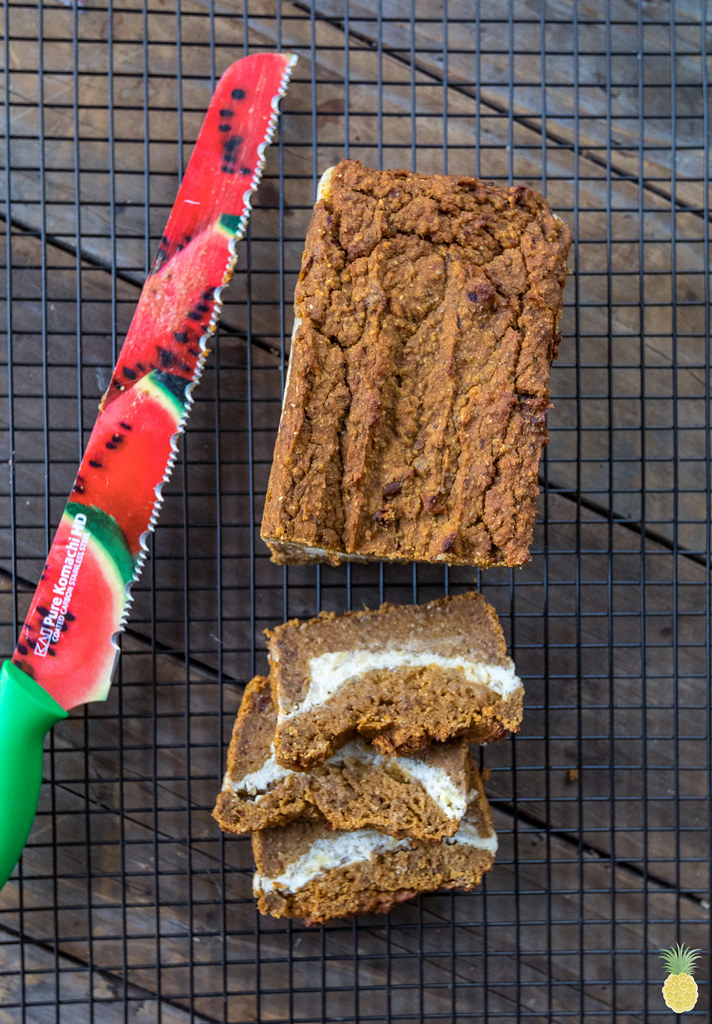 Date-Sweetened Pumpkin Cream Cheese Bread (oil-, gluten- & refined sugar-free) sweetsimplevegan.com