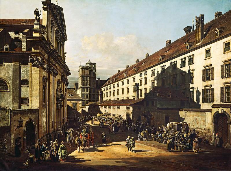 Bernardo Bellotto, called Canaletto - Vienna, Dominican Church (1760)