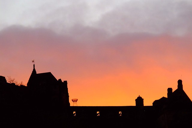 winter sunset, Edinburgh 02