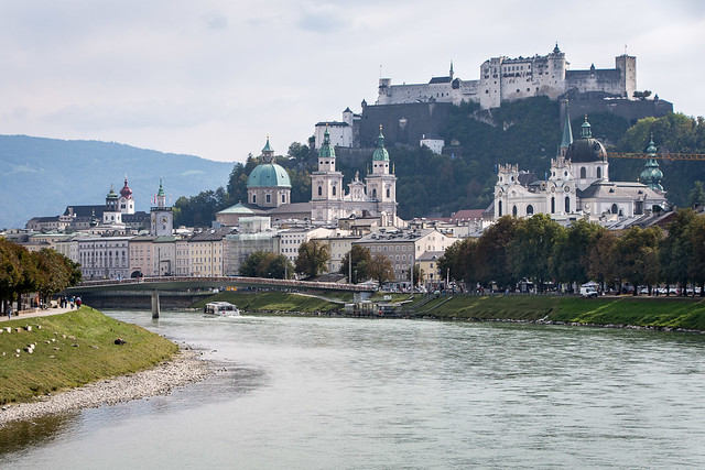 Salzburg old town and castle