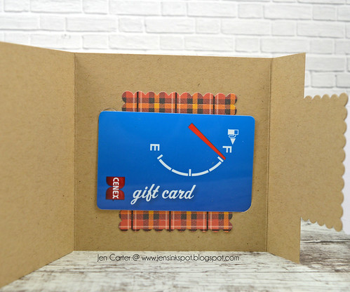 Jen Carter Bump Square Gift Card with card