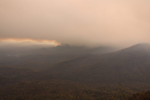 View of fire from Caesars Head - 2