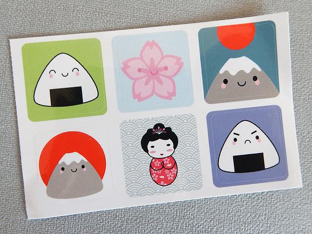 Kawaii Japan stickers