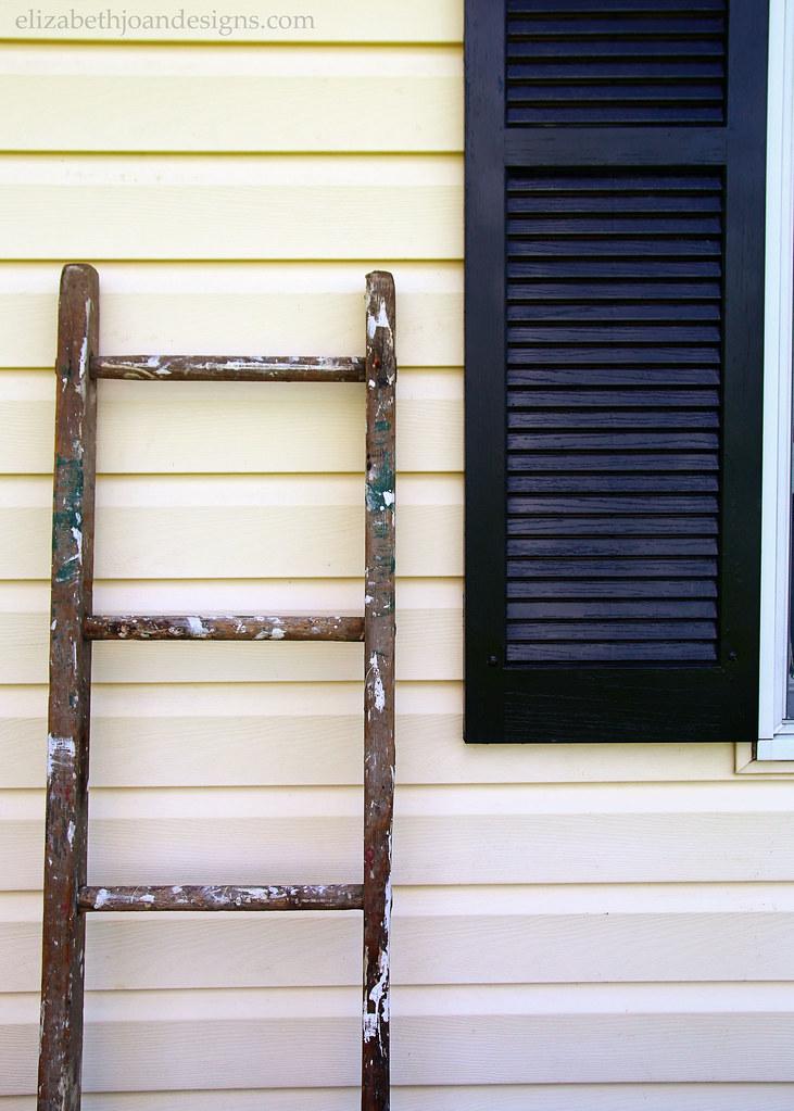 Old Ladder Hanging Shutters