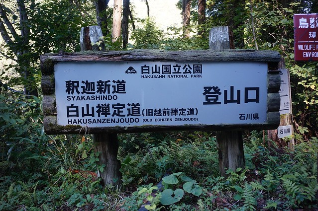 "Mountain-climbing path ""HAKUSAN ZENJOUDOU"""