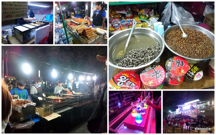 Hangang Park night market eats