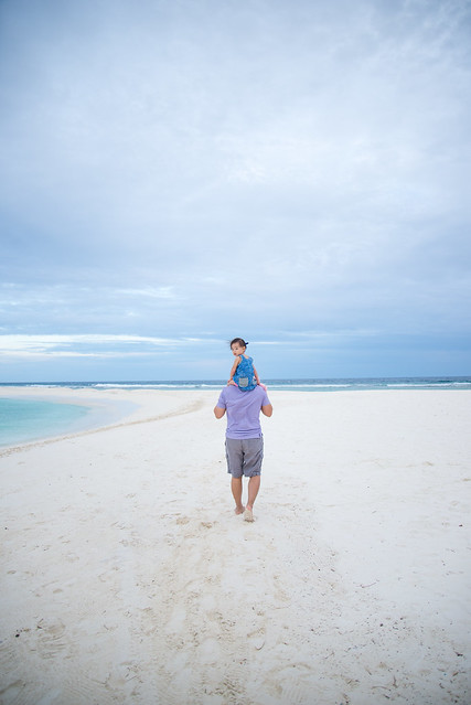 Dad and daughter in Maldives