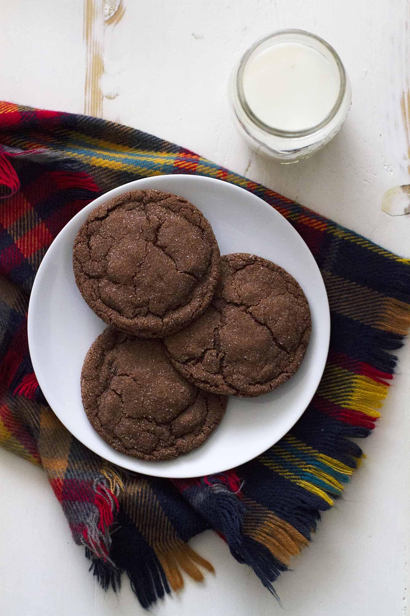 Chocolate Cardamom Cookies | girlversusdough.com @girlversusdough