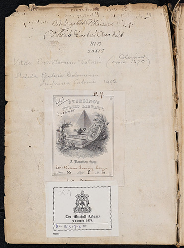Hieronymus: Vitae sanctorum patrum, sive Vitas patrum - Bookplate and inscriptions