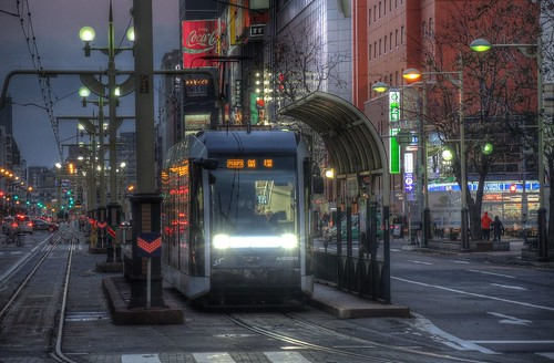 Tramcars at Sapporo on NOV 20, 2016 (13)