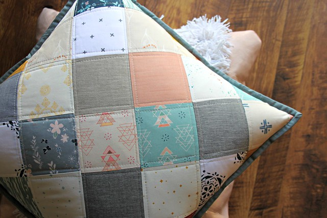 A Winter Patchwork Pillow