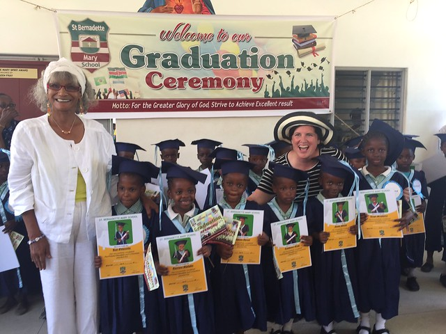 Our GLO children graduating from KG3 with Mama Waseema & Mama Carrie