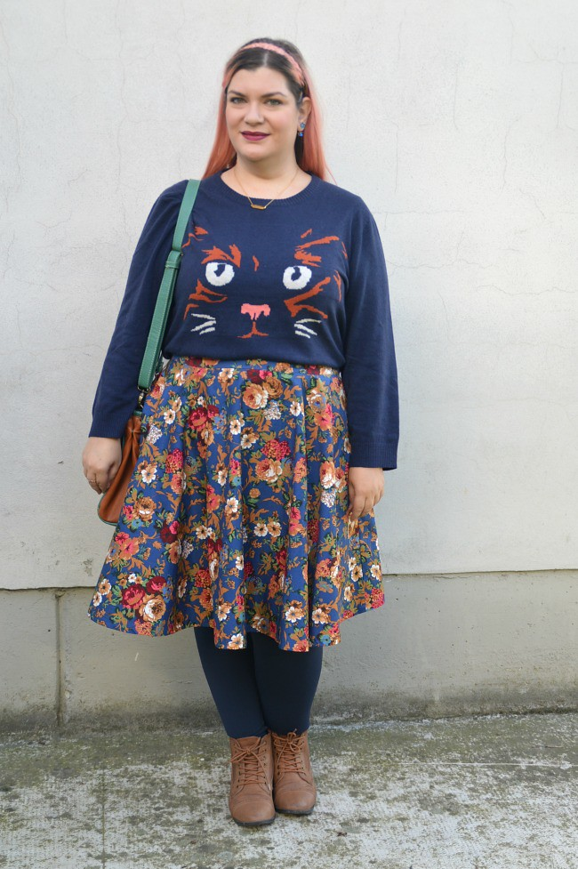 Outfit blu e floreale (10)
