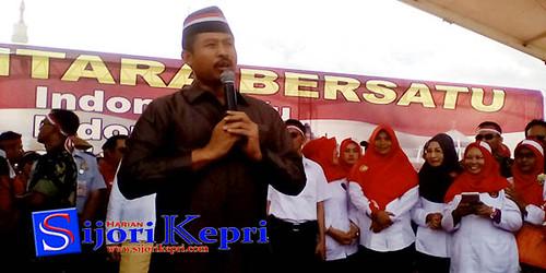 Ketua DPRD Nuryanto, manyampaikan orasinya