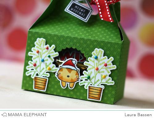 Mama Elephant-Gable Box & Meowy Woofmas