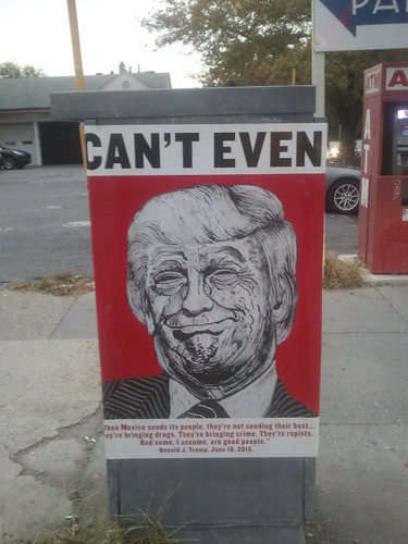 Anti Trump poster, 14th Street NW, DC