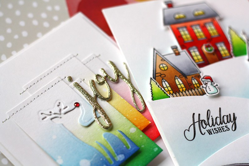 SSS-Christmas Town & Holiday Card Kit