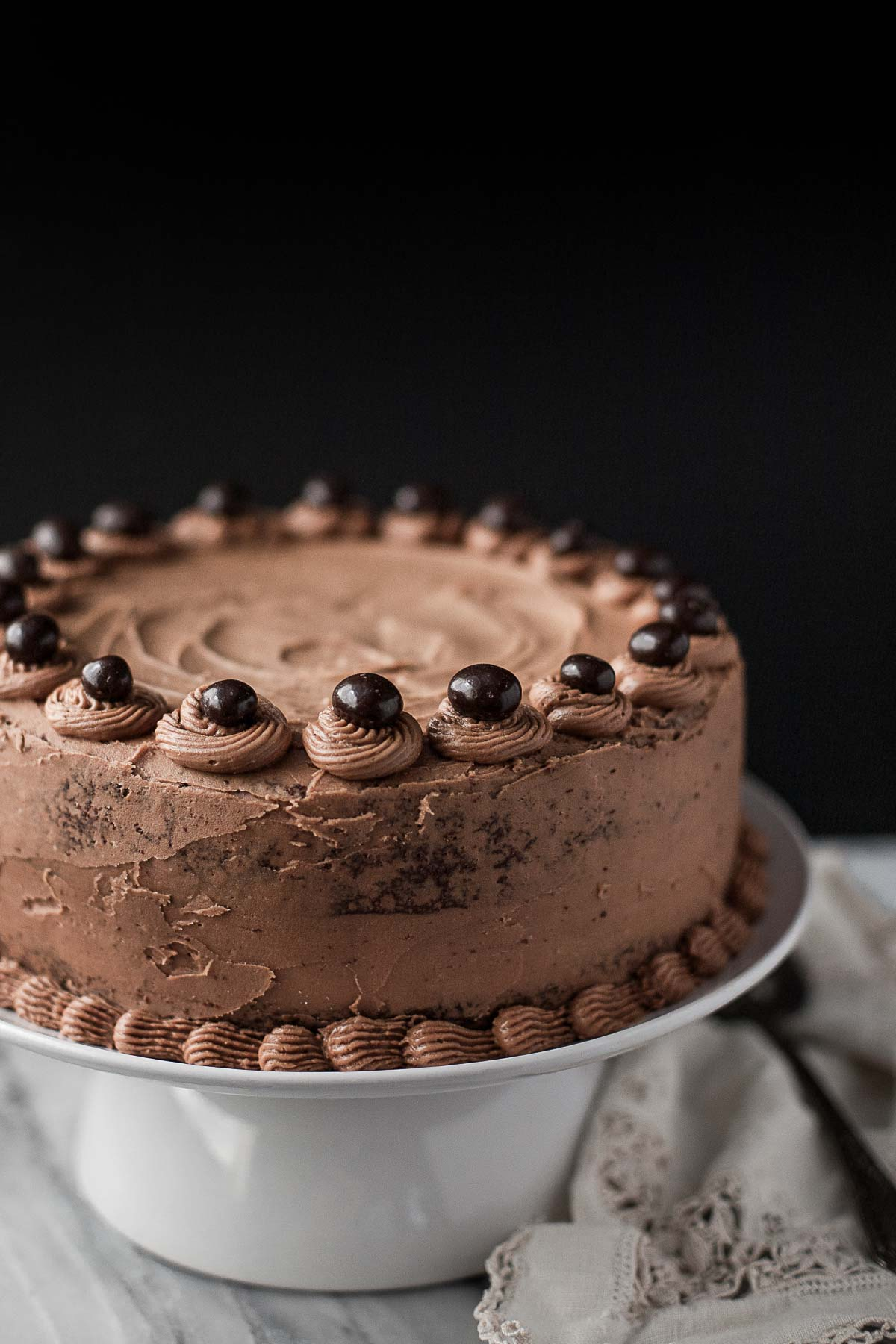 Grain-free Chocolate Cake with Mocha Buttercream