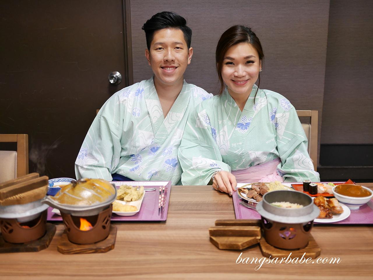 Dinner at Hanamaki Onsen Senshukaku