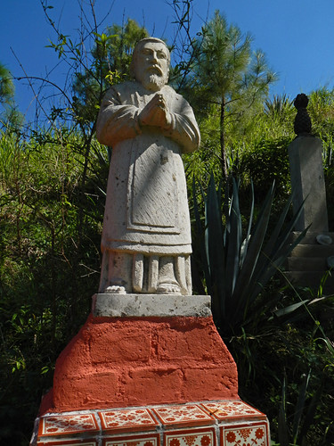 Statue at the Puerto Vallarta Botanical Garden on the Pacific coast of Mexico