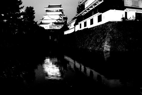 Kokura Castle in evening on NOV 26, 2016 (3)