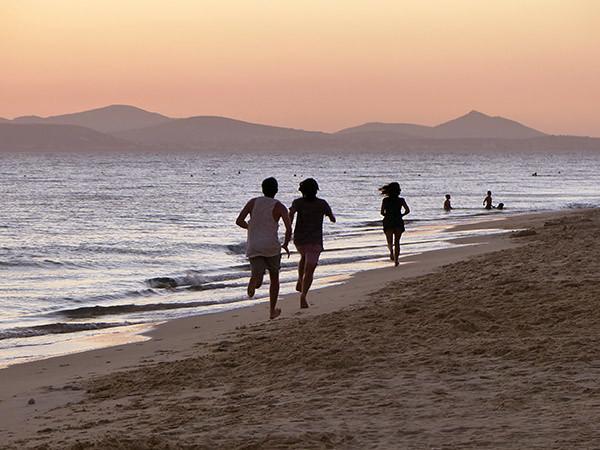 jogging au bord de l'eau