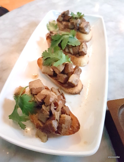 Braised Pork Crostini