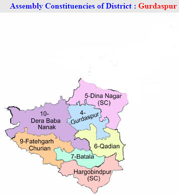 Gurdaspur district Punjab Election 2017