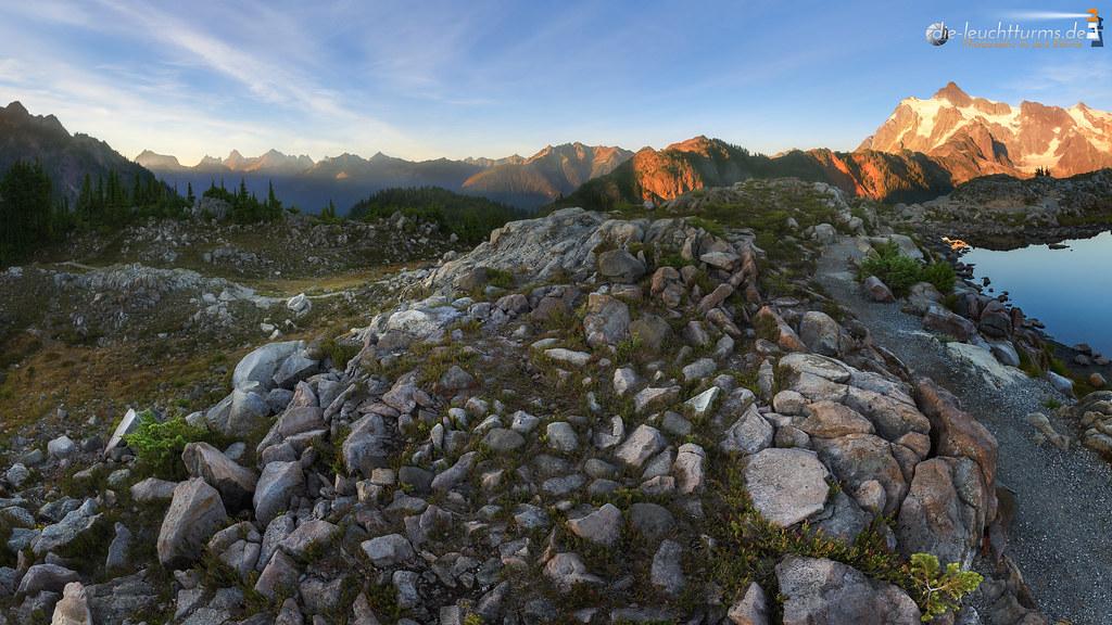 Cascade Summits in evening light
