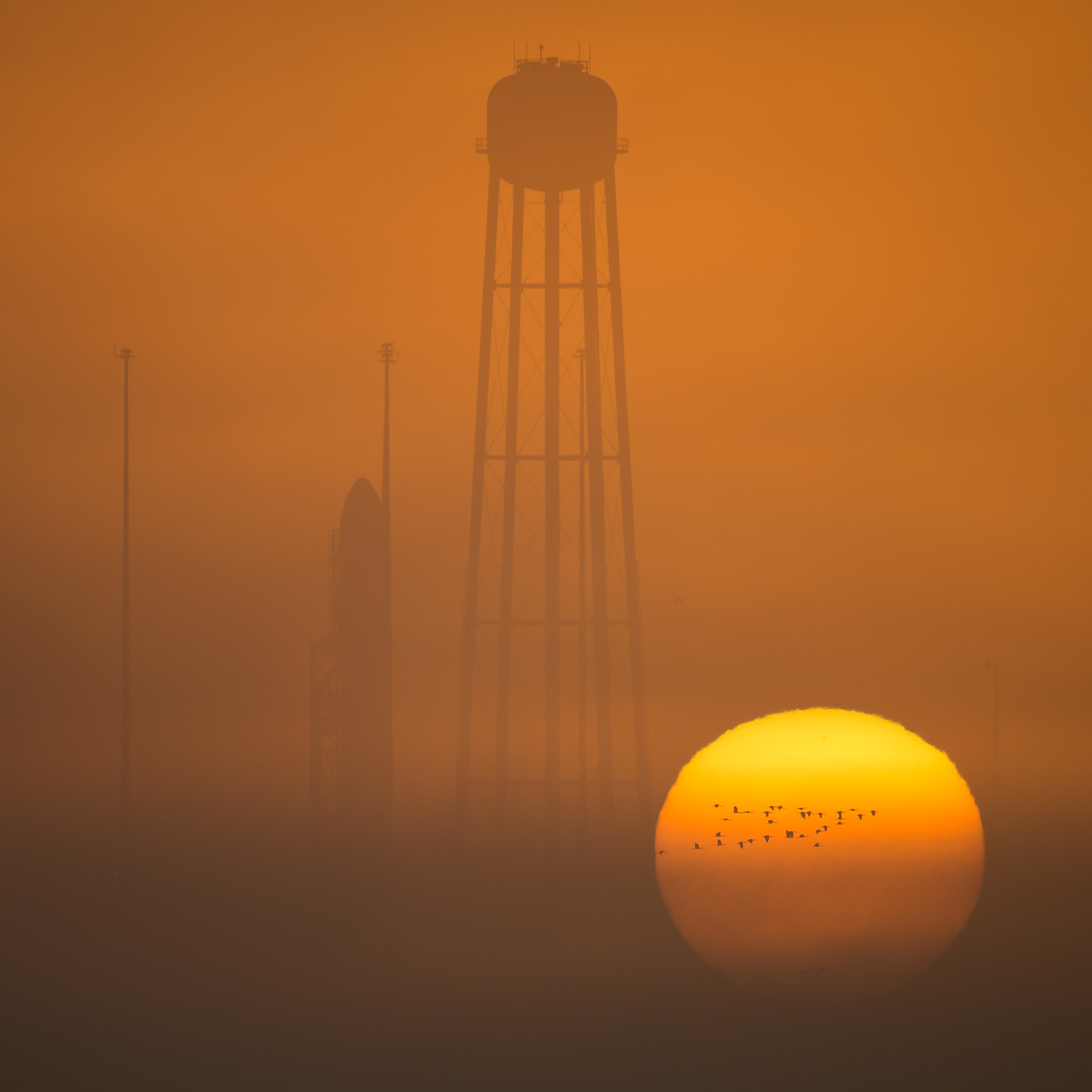 Antares Rocket Prelaunch (NHQ201610160100)