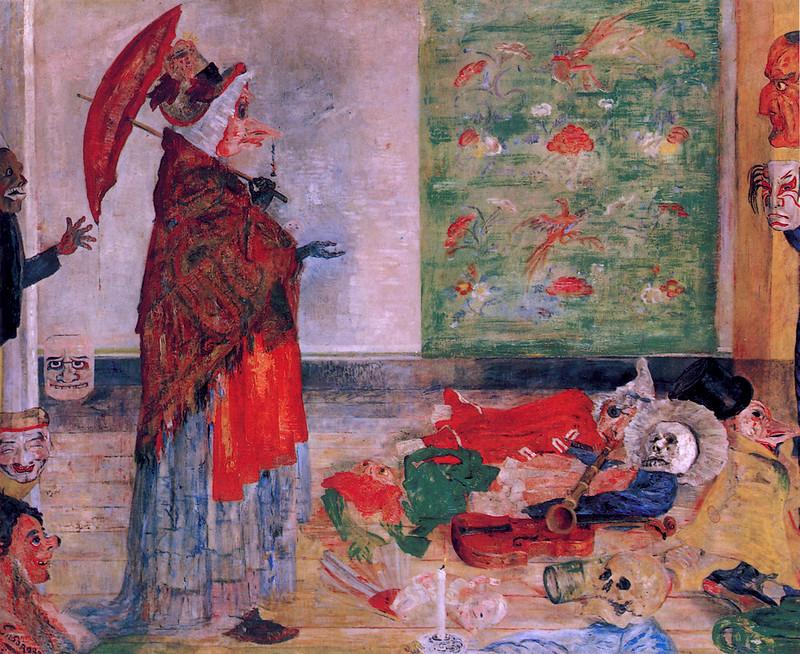 James Ensor - Astonishment of the Mask Wouse, 1889
