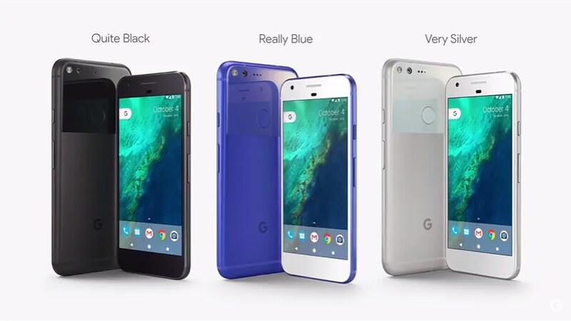 Цвета Google Pixel и Pixel XL