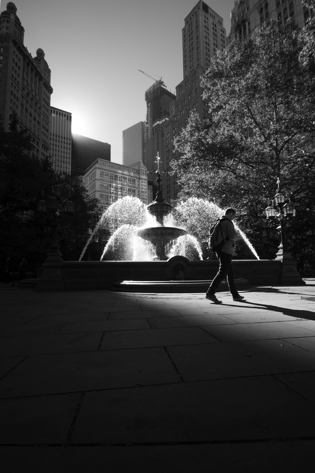 city hall park fountain 2