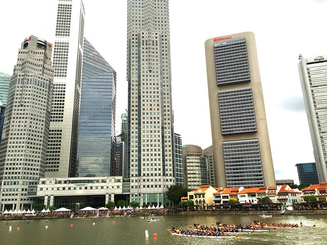 Dragonboat racing. Singapore River Regatta 2016