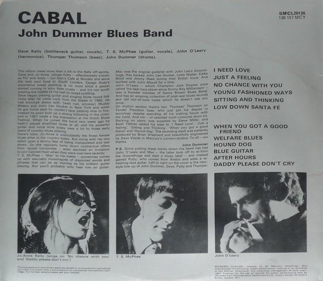 THE JOHN DUMMER BLUES BAND CABAL