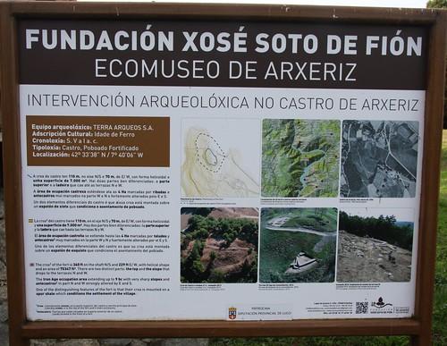 Panel intervención arqueolóxica Castro de Arxeriz