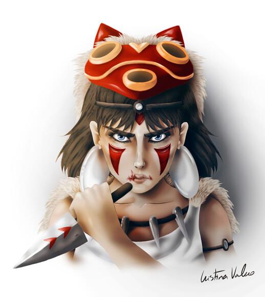 Fan art Mononoke de La princesa Mononoke