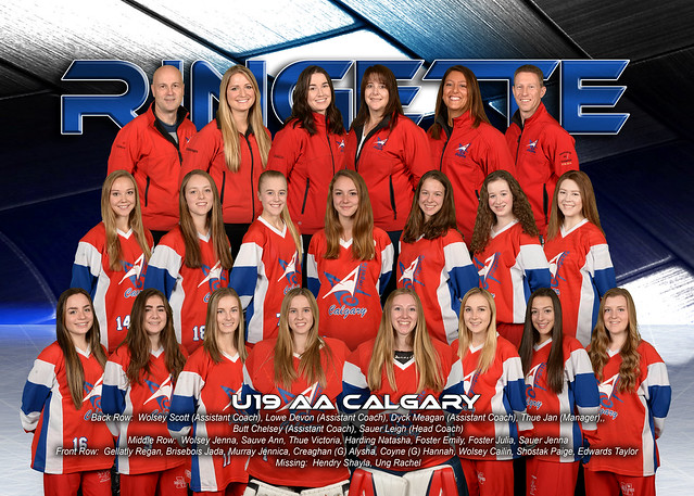 Team Photo - U19AA Calgary 2016-17