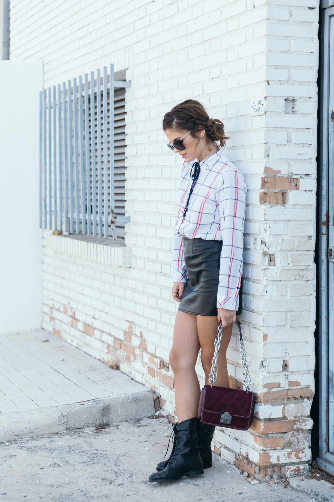 Jessie Chanes Seams for a desire - Black Boots Itshoes Parfois bag faux leather skirt-10