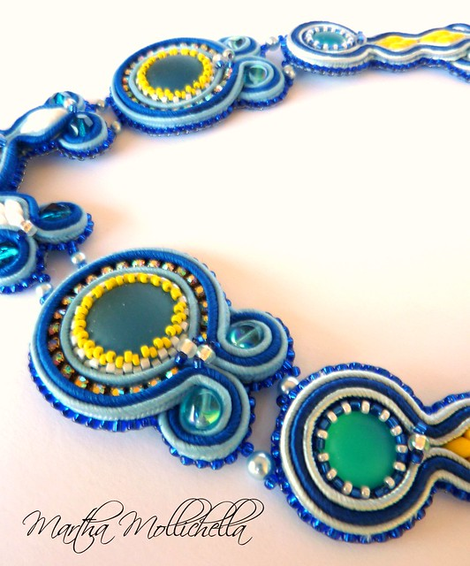 soutache necklace handmade in Italy by Martha Mollichella Handmade Jewelry