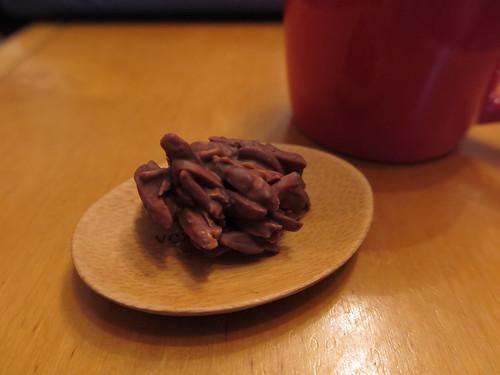 Mit Schokolade überzogene Mandelsplitter