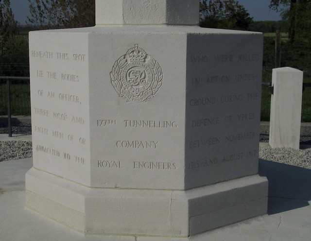 Royal Engineers Grave, Railway Wood, Inscription 1