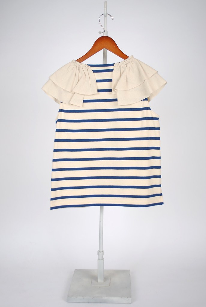 Striped Ruffle T