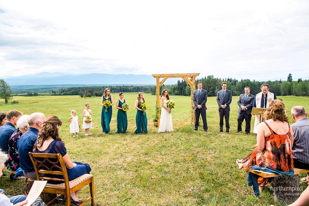 Farm Wedding Ceremony - Smithers BC