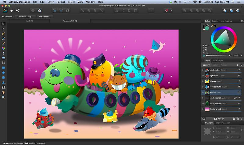 Affinity Designer un concurrent d'Illustrator est maintenant disponible pour Windows