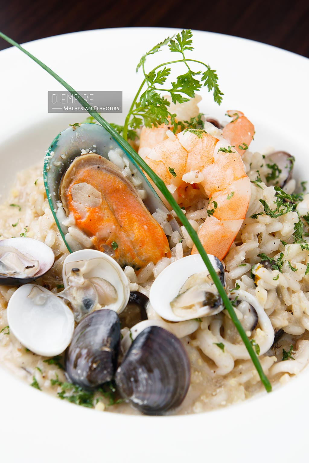 D Empire European Cuisine seafood risotto